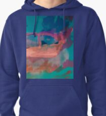 Abstract Laundry Boat in Blue, Green, Orange and Pink Pullover Hoodie