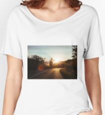 Road at sunset Women's Relaxed Fit T-Shirt