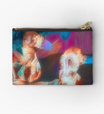 Abstract Duck Art Spiral Notebook Studio Pouch