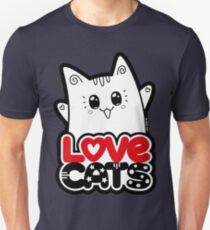 Love Cats - Neko Yoko Cat Unisex T-Shirt