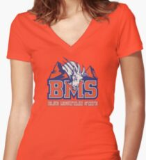 BMS - Blue Mountain State Women's Fitted V-Neck T-Shirt