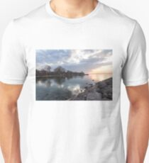 Limpid - Crystal Clear Peaceful Waterfront Sunrise T-Shirt