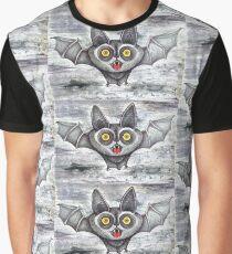 screaming cute cartoon bat Graphic T-Shirt