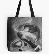 Dancing Fire - Black and White Tote Bag