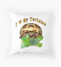I love my tortoise Throw Pillow