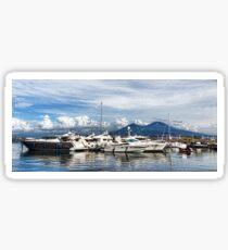 Vesuvius and Naples Harbor - Mediterranean Impressions Sticker
