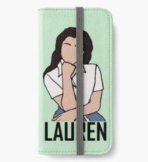 Outline of Lauren Jauregui iPhone Wallet/Case/Skin