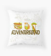 Adventureland Throw Pillow