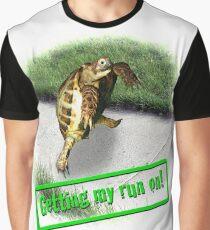 Tortoise - Getting my run on Graphic T-Shirt