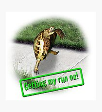 Tortoise - Getting my run on Photographic Print