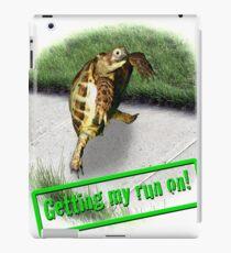 Tortoise - Getting my run on iPad Case/Skin