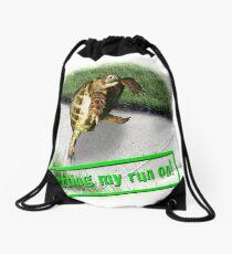Tortoise - Getting my run on Drawstring Bag