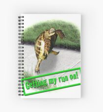 Tortoise - Getting my run on Spiral Notebook