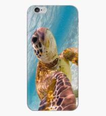 Sea turtle selfie iPhone Case