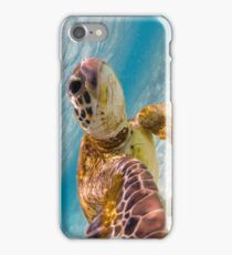 Sea turtle selfie iPhone Case/Skin