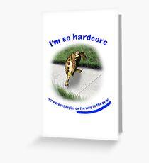 Tortoise - hardcore workout Greeting Card