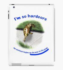 Tortoise - hardcore workout iPad Case/Skin