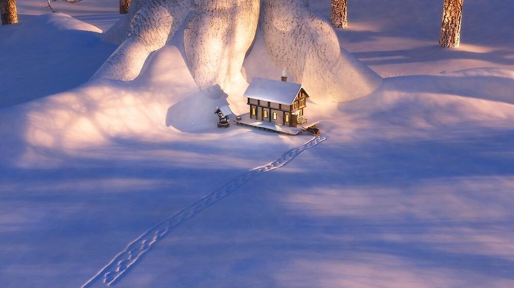 « Petite maison dans la neige » par Hannah Joy Patterson