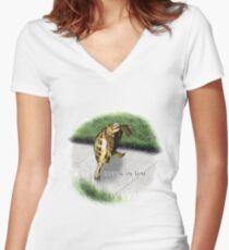 Tortoise - Running on time Women's Fitted V-Neck T-Shirt