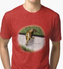 Tortoise - Running on time Tri-blend T-Shirt