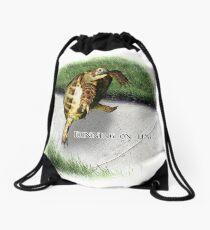 Tortoise - Running on time Drawstring Bag