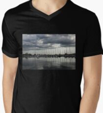 Yachts and Sailboats - the Silvery Calmness of Grays T-Shirt