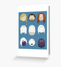 Defiance Minimalistic Character Set  Greeting Card