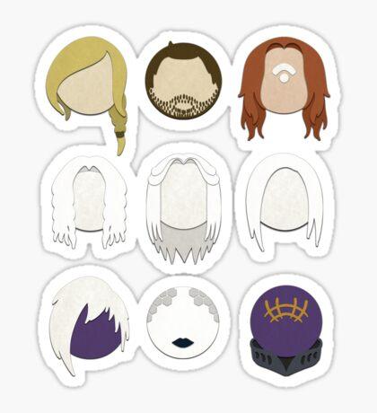 Defiance Minimalistic Character Set  Sticker