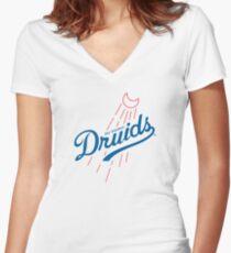 Druids - WoW Baseball  Women's Fitted V-Neck T-Shirt