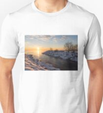 Brilliant, Bright and Cold - a Winter Morning on the Lake Shore T-Shirt