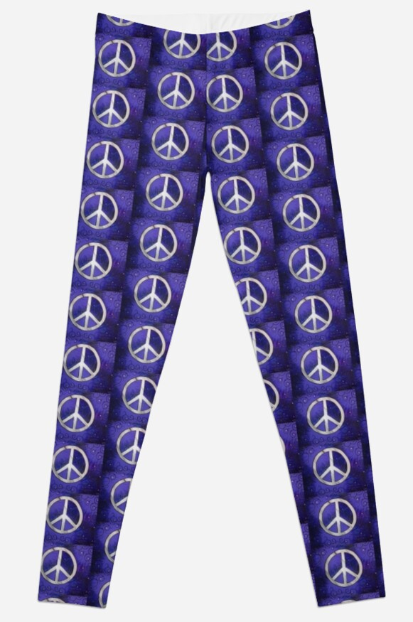 Retro Purple Peace Sign by Heather Conley