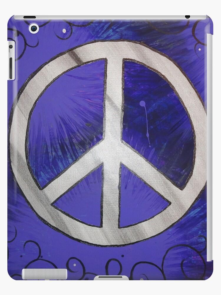 Retro Purple Peace Sign by Heather Conley