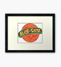 Blips and Chitz Framed Print