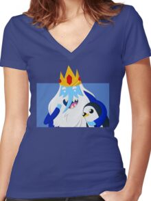 Ice King and Gunter Women's Fitted V-Neck T-Shirt