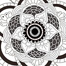 Black and White Mandala by StaceySteph