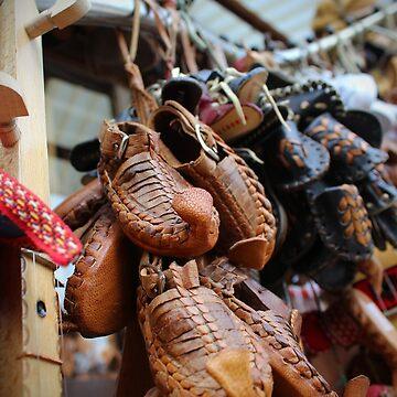 Opinci, traditional Macedonian footwear by miodrag