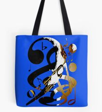Jazz Note Blue Tote Bag