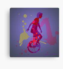 The Unicyclist Canvas Print
