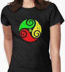 Grunge Reggae Love Vibes - Cool Weed Cannabis Reggae Rasta T-Shirt NoteBooks Stickers Womens Fitted T-Shirt