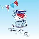 Time for Tea (square) by Carolynne