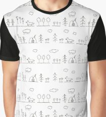Doodle pattern Graphic T-Shirt