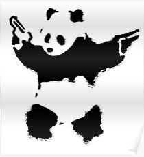 Banksy - Panda With Guns Poster
