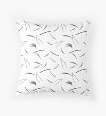 Needles. Nature graphic. White version Throw Pillow