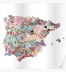 Spain map Poster