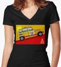 Renault 4 Sinpar 4x4 Women's Fitted V-Neck T-Shirt