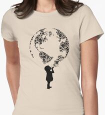Earth Child (black) Women's Fitted T-Shirt