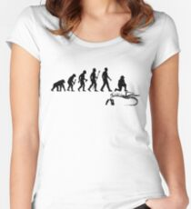 Funny Paleontologist Evolution  Women's Fitted Scoop T-Shirt