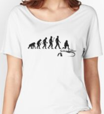 Funny Paleontologist Evolution  Women's Relaxed Fit T-Shirt