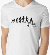 Funny Paleontologist Evolution  Men's V-Neck T-Shirt