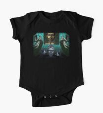 Weeping angels stained glass One Piece - Short Sleeve